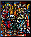 TQ0979 : Heart of Mary, Hayes - Stained glass window by John Salmon