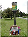 TL8957 : Bradfield Combust village sign and War Memorial by Adrian S Pye