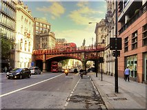 TQ3181 : Holborn Viaduct from Farringdon Road by David Dixon
