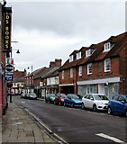 SU3521 : West along The Hundred, Romsey by Jaggery