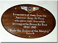 TM1476 : Memorial plaque in St Mary's church by Evelyn Simak
