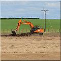 TA0030 : Lagoon construction, Rawdales, E Yorks by Paul Harrop