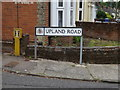 TM1744 : Upland Road sign by Adrian Cable