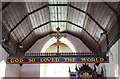 TM4889 : St John the Evangelist, Barnby - Rood beam by John Salmon