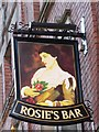 NZ2464 : Sign for Rosie's Bar, Stowell Street, NE1 by Mike Quinn