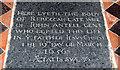 TM3787 : St Andrew, Ilketshall St Andrew - Ledger slab by John Salmon