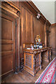 SP5106 : Mantle Clock and Sideboard, Dining Room, Brasenose College, Oxford by Christine Matthews