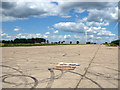 TM1274 : View along the main runway (03/21) at Eye airfield by Evelyn Simak