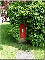 TL9650 : Victorian Postbox in a brick pillar near Kettlebaston church by Adrian S Pye