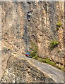 ST5574 : Climbers on Black Rocks by Derek Harper