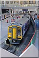 SJ8499 : Northern Rail Class 158, 158758, platform 2, Manchester Victoria railway station by El Pollock
