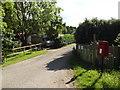 TM0756 : Badley Walk and Badley Walk Postbox by Geographer