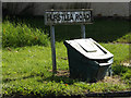 TM0855 : Hurstlea Road sign by Adrian Cable