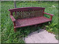 NJ8715 : A memorial bench by the River Don by Stanley Howe