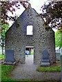 NJ8715 : East end gable (exterior) of St Fergus church by Stanley Howe