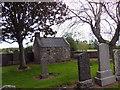 NJ8715 : Mort house in St Fergus Chapel graveyard by Stanley Howe