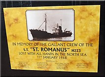 TA0827 : In memory of the gallant crew of the St Romanus by Ian S