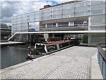 TQ2681 : Theodora - narrowboat in Paddington Basin by David Hawgood