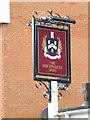 TM1844 : The Brickmakers Arms Public House sign by Adrian Cable