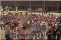TQ1985 : View of Colour Runners gathering for the colour throw by Robert Lamb