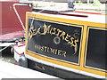 TQ2681 : Sea Mistress, Costumier - decorative name on narrowboat in Paddington Basin by David Hawgood