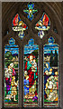 TF1135 : Stained glass window, St Andrew's church, Horbling by J.Hannan-Briggs