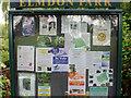 SP1582 : Noticeboard, Elmdon Park, Olton by Robin Stott