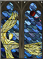 TQ2781 : St John the Evangelist, Hyde Park Crescent - Stained glass window by John Salmon