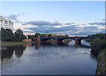 SK5838 : Trent Bridge twilight by John Sutton