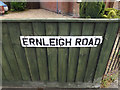 TM1944 : Ernleigh Road sign by Adrian Cable