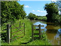 SP4930 : Gate on the towpath of the Oxford Canal by Mat Fascione