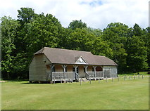 TQ4223 : Armadillos Cricket Pavilion, Sheffield Park Garden by pam fray