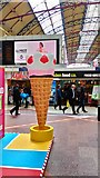 TQ2879 : Ice Cream display on Victoria Station by PAUL FARMER