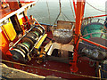 SX9372 : Fish being hoisted from the hold of a trawler at the Fish Quay, Teignmouth by Robin Stott