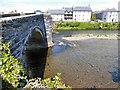 SH7961 : A car crosses Pont Fawr by Gerald England