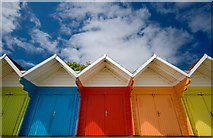 TA0390 : North Bay beach huts, Scarborough by Paul Harrop