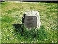 TR3353 : Commemorative stone, Betteshanger Community Park by Chris Whippet