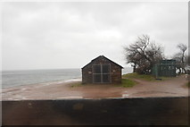 SX9573 : Hut at Sprey Point by N Chadwick