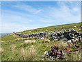 NY6338 : Dry stone wall on west side of Knapside Hill by Trevor Littlewood
