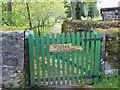 NY8548 : Path by St Peter's Church and graveyard by Mike Quinn