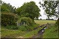 SJ8047 : Footpath crossing near Scot Hay by Jonathan Hutchins
