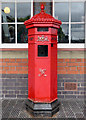 SO8376 : Victorian post box in Kidderminster, Worcestershire by Roger  Kidd