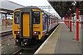 SJ8989 : Northern Rail Class 156, 156483, platform 3a, Stockport railway station by El Pollock