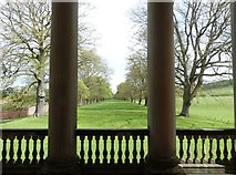 NZ1758 : The Avenue from between the columns of the Chapel at Gibside Hall by Derek Voller