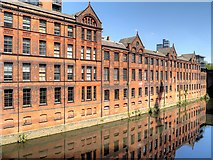 SJ8399 : River Irwell, Manchester Parcel Sorting Office by David Dixon