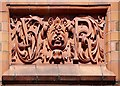 SJ8399 : Manchester Parcel Post Office - Decorated Panel (VR) by David Dixon