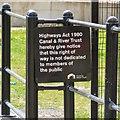 SJ8598 : Permissive path notice by Gerald England