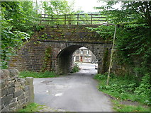 SD9726 : Railway Bridge over Stony Lane, Charlestown, Blackshaw by Humphrey Bolton