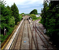ST9897 : Kemble railway station from Station Road bridge by Jaggery