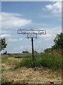 TM1572 : Cranley Hall Farm sign by Adrian Cable